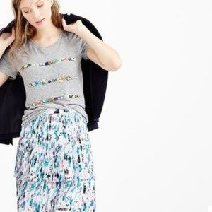 J. Crew Two-Tier Pleated Watercolor Floral Skirt